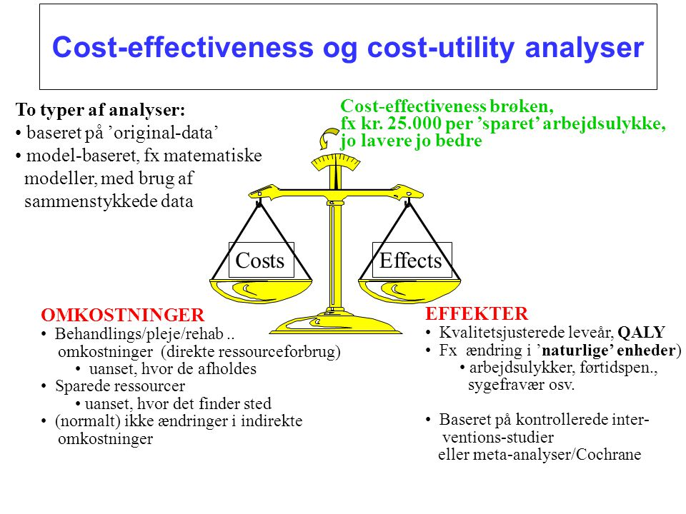Cost-effectiveness og cost-utility analyser