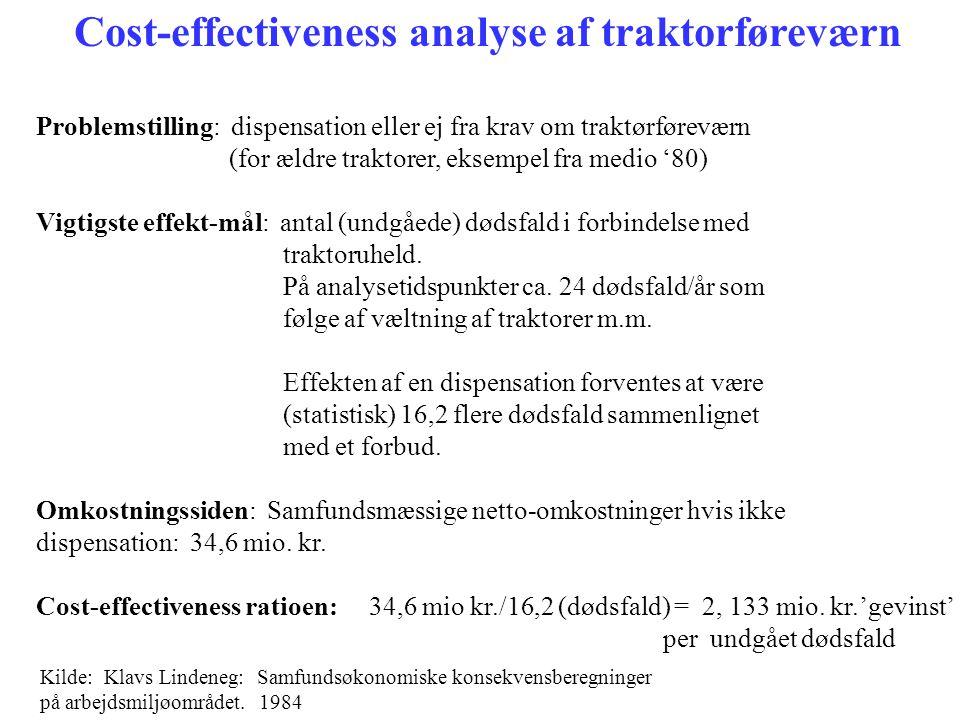 Cost-effectiveness analyse af traktorføreværn