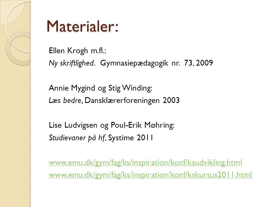 Materialer: