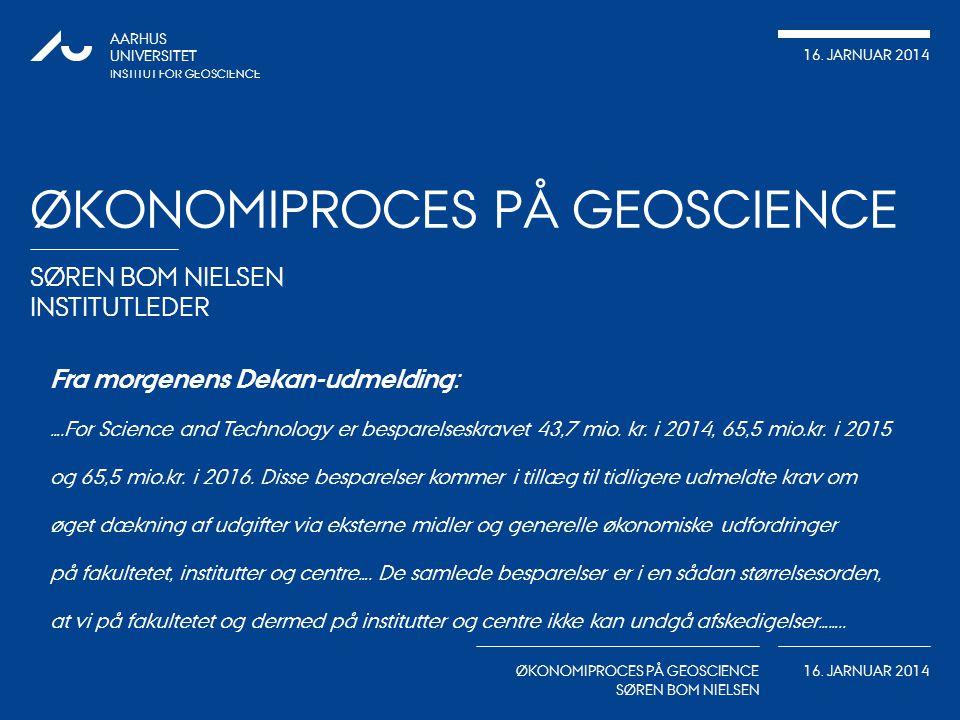 Økonomiproces på Geoscience