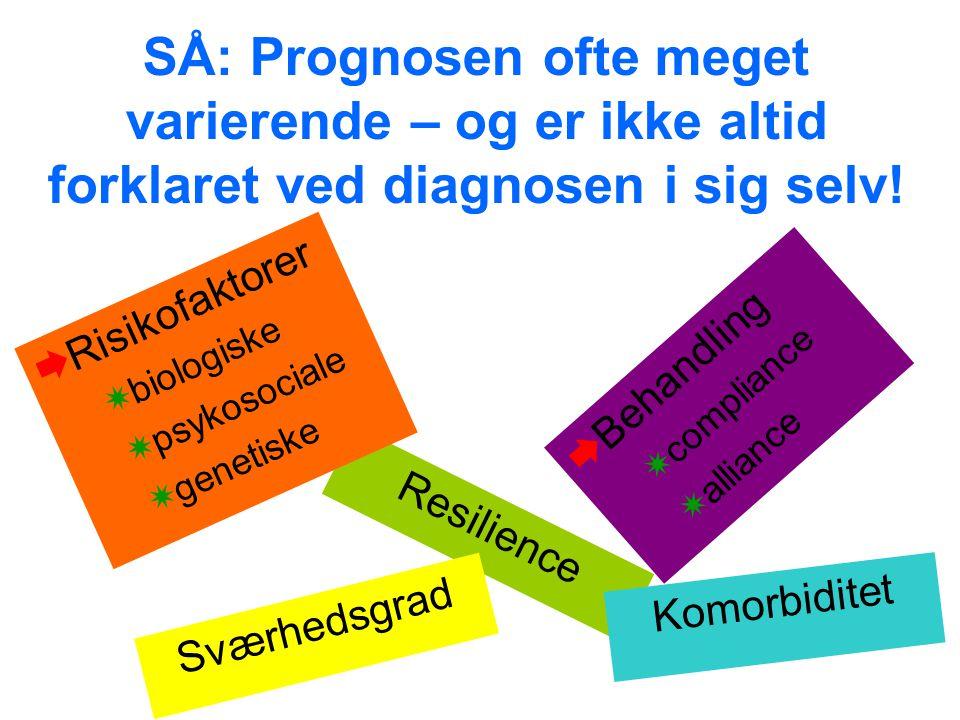 SÅ: Prognosen ofte meget varierende – og er ikke altid forklaret ved diagnosen i sig selv!