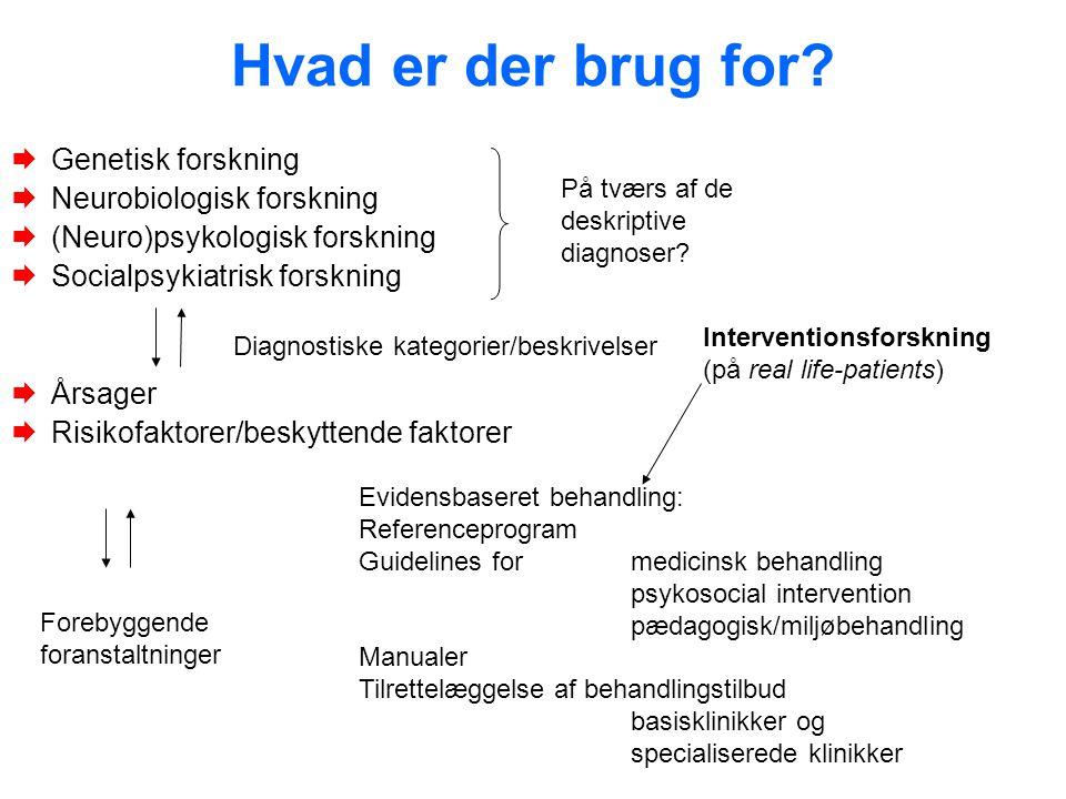 Hvad er der brug for Genetisk forskning Neurobiologisk forskning