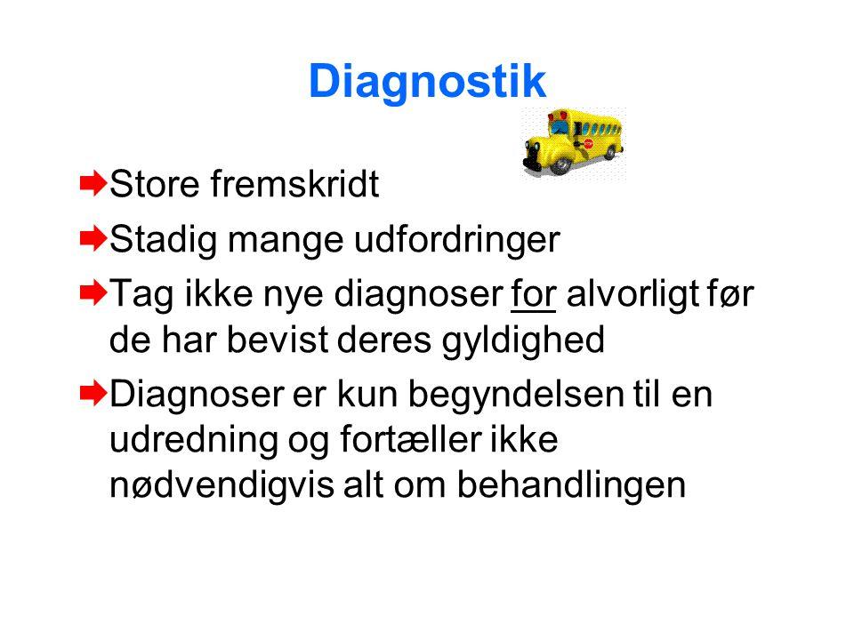 Diagnostik Store fremskridt Stadig mange udfordringer