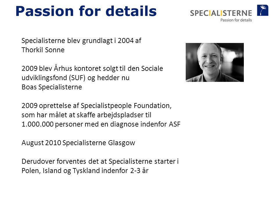 Specialisterne blev grundlagt i 2004 af Thorkil Sonne