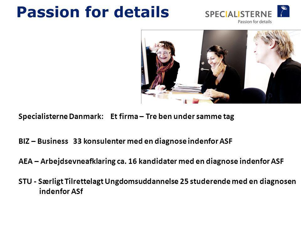 Specialisterne Danmark: Et firma – Tre ben under samme tag