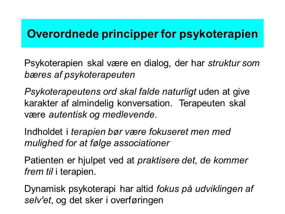 Overordnede principper for psykoterapien