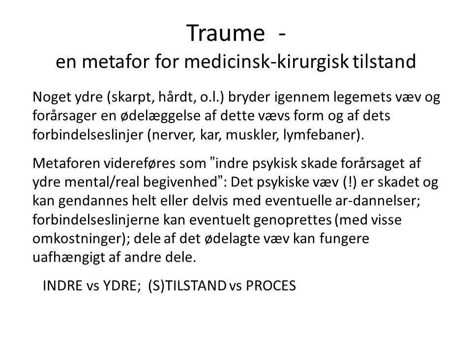 Traume - en metafor for medicinsk-kirurgisk tilstand