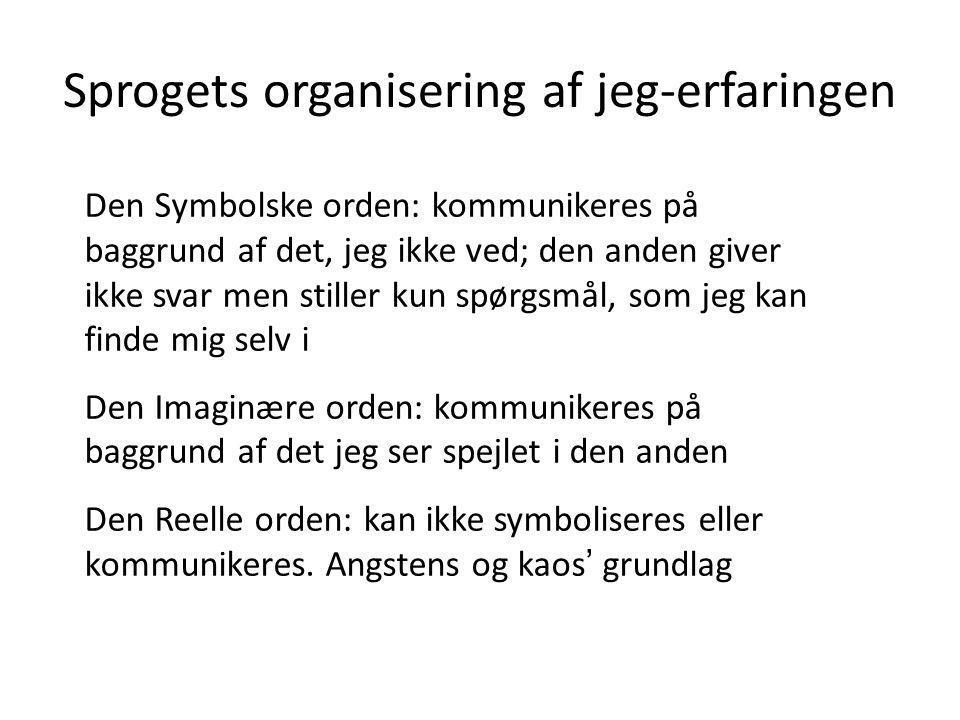 Sprogets organisering af jeg-erfaringen
