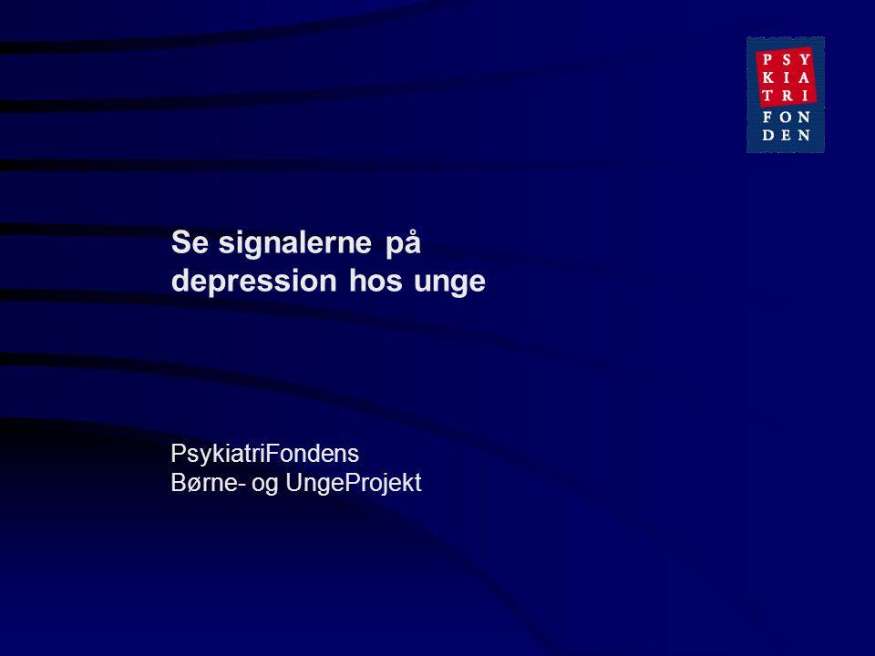 Se signalerne på depression hos unge