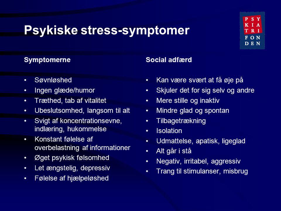 Psykiske stress-symptomer