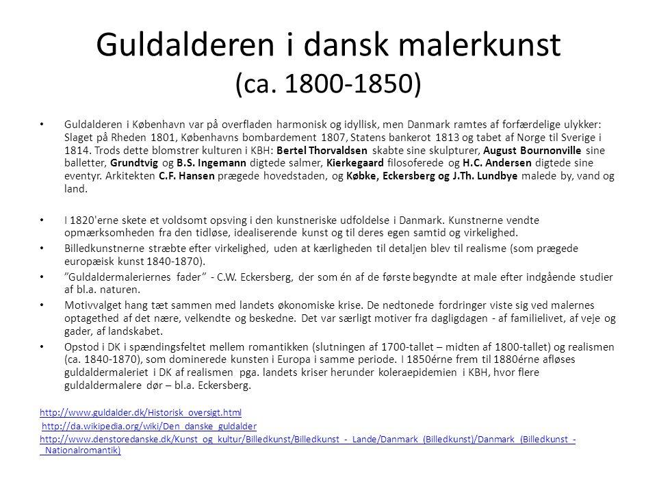 Guldalderen i dansk malerkunst (ca. 1800-1850)