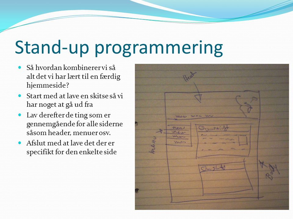 Stand-up programmering
