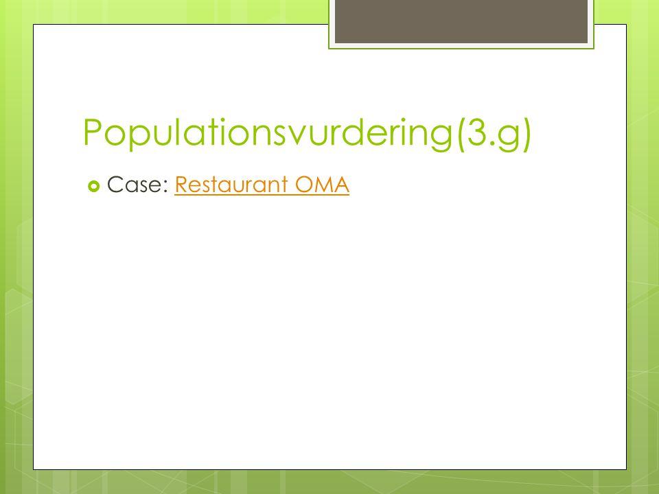 Populationsvurdering(3.g)