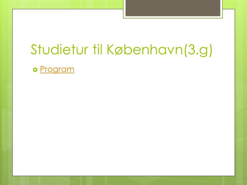 Studietur til København(3.g)