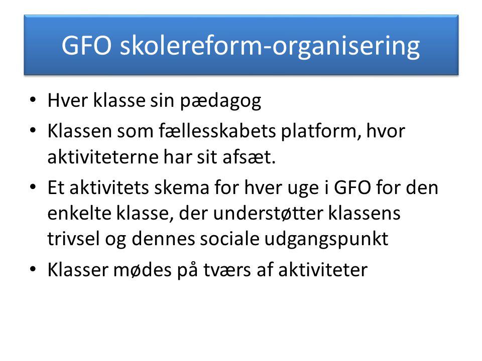 GFO skolereform-organisering