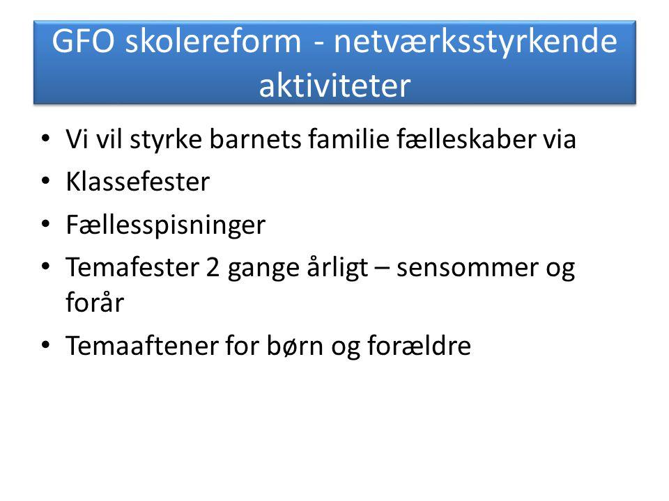 GFO skolereform - netværksstyrkende aktiviteter