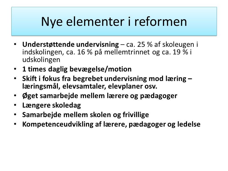 Nye elementer i reformen