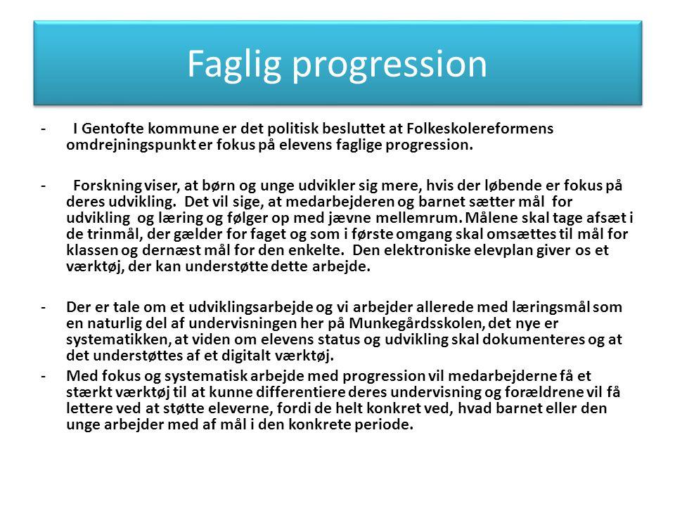 Faglig progression