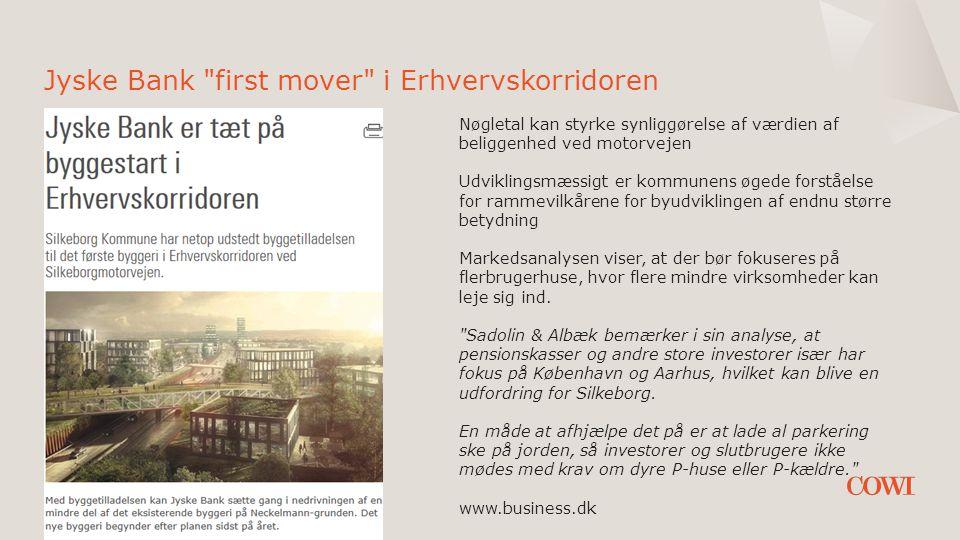 Jyske Bank first mover i Erhvervskorridoren