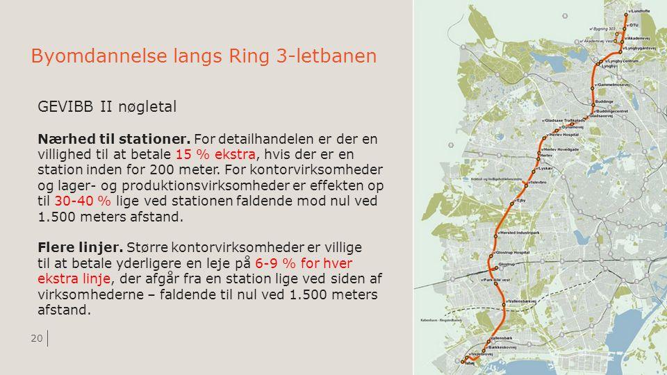 Byomdannelse langs Ring 3-letbanen