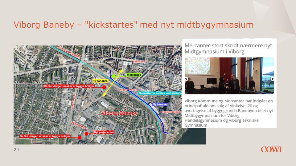 Viborg Baneby – kickstartes med nyt midtbygymnasium