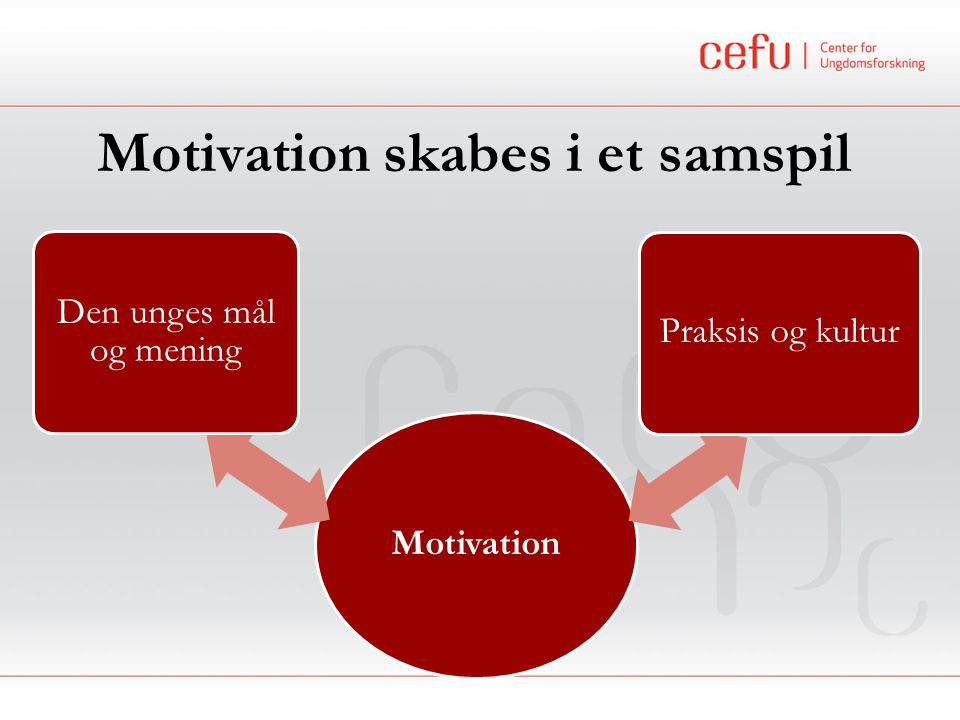 Motivation skabes i et samspil