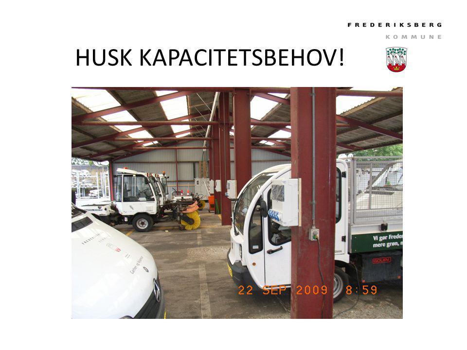 HUSK KAPACITETSBEHOV!