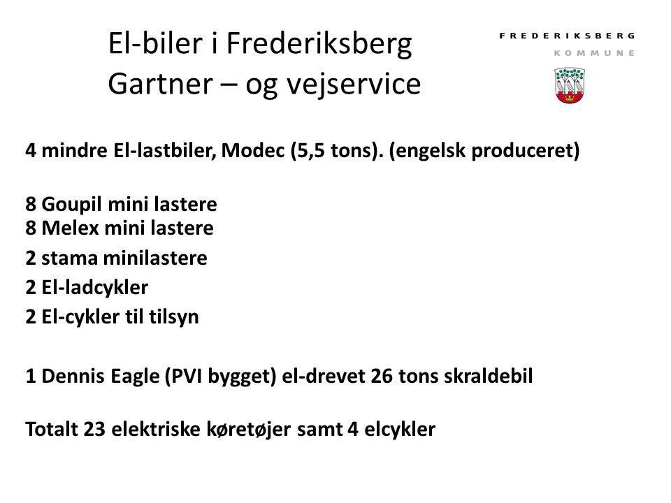 El-biler i Frederiksberg Gartner – og vejservice