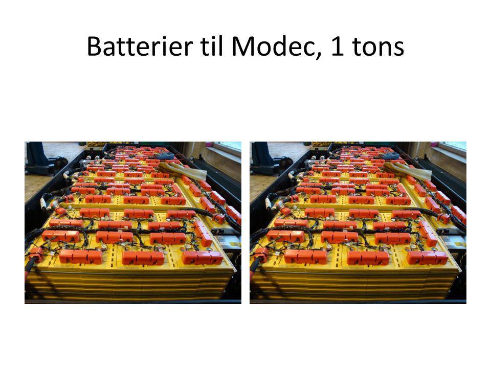 Batterier til Modec, 1 tons