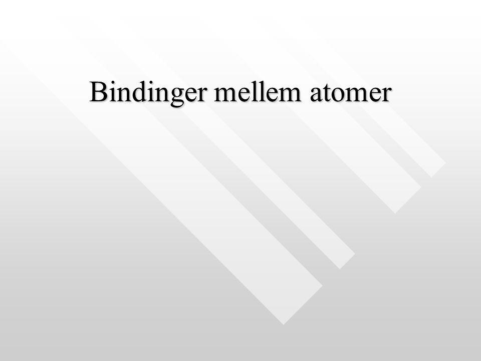 Bindinger mellem atomer