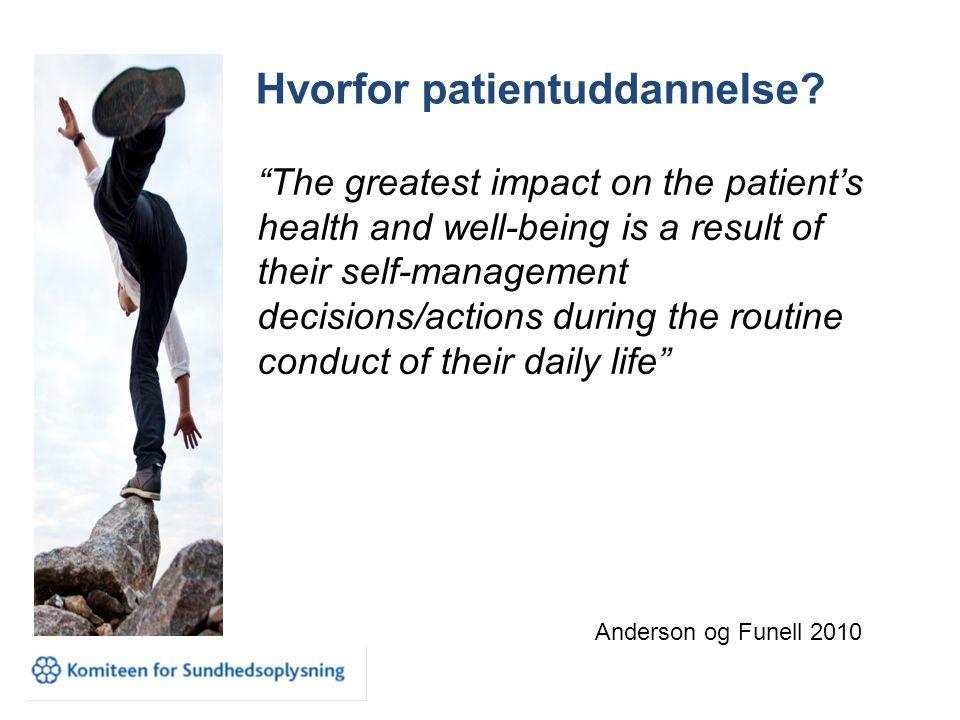 Hvorfor patientuddannelse