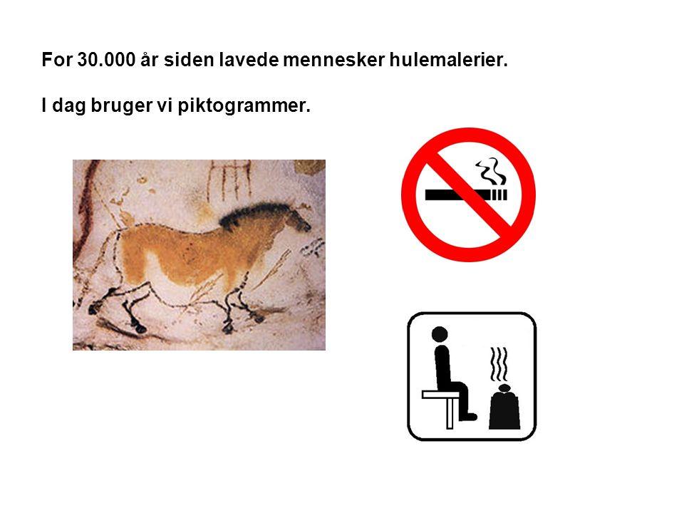 For 30. 000 år siden lavede mennesker hulemalerier