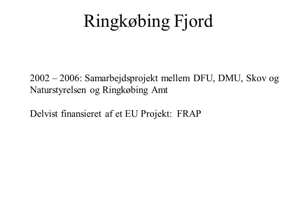 Ringkøbing Fjord 2002 – 2006: Samarbejdsprojekt mellem DFU, DMU, Skov og. Naturstyrelsen og Ringkøbing Amt.