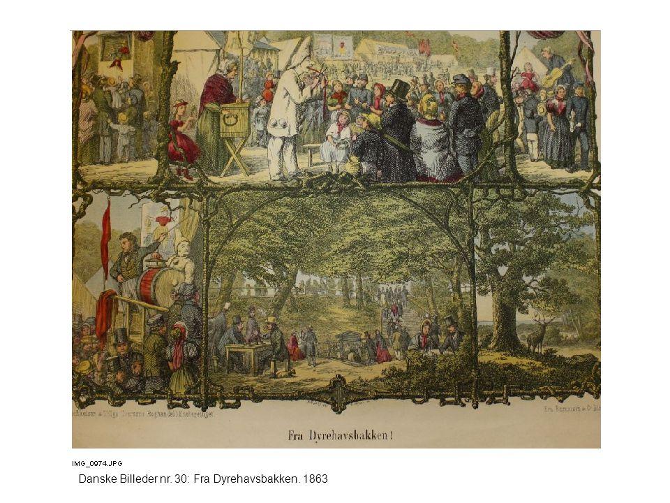 Danske Billeder nr. 30: Fra Dyrehavsbakken. 1863