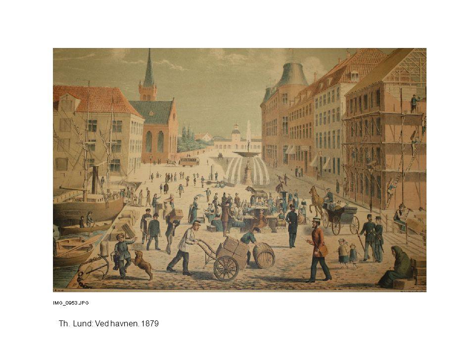 Th. Lund: Ved havnen. 1879