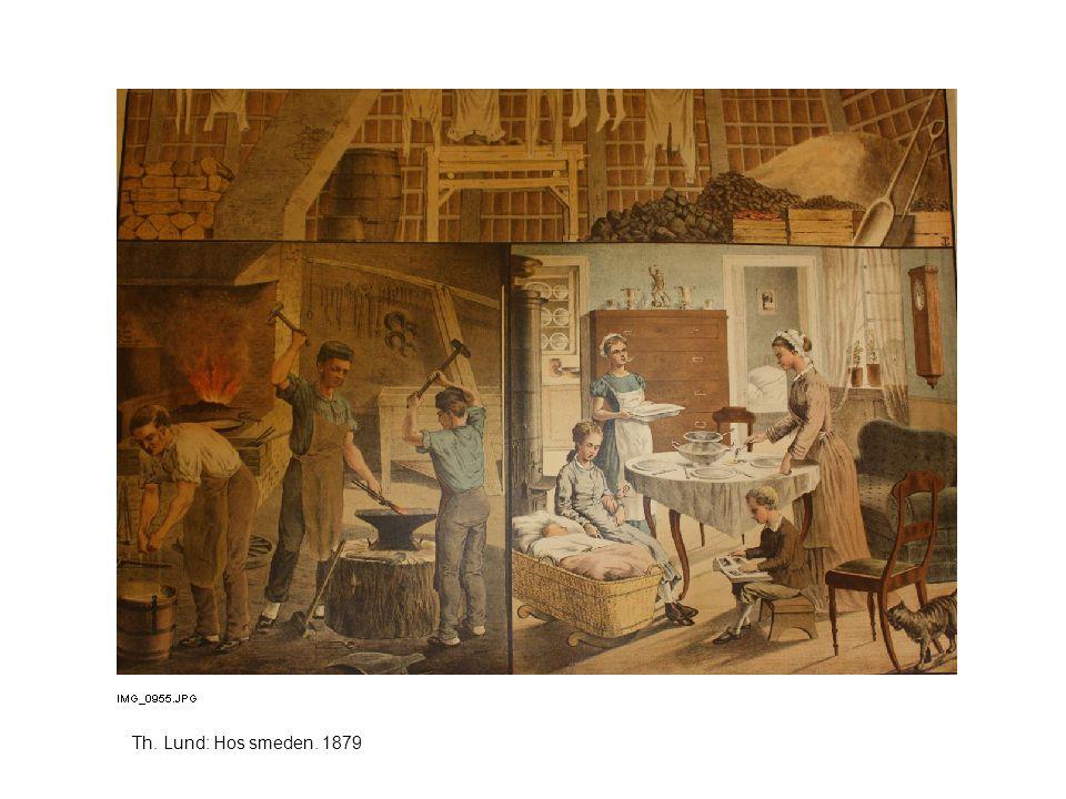 Th. Lund: Hos smeden. 1879