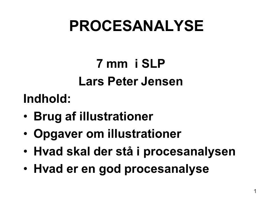 PROCESANALYSE 7 mm i SLP Lars Peter Jensen Indhold: