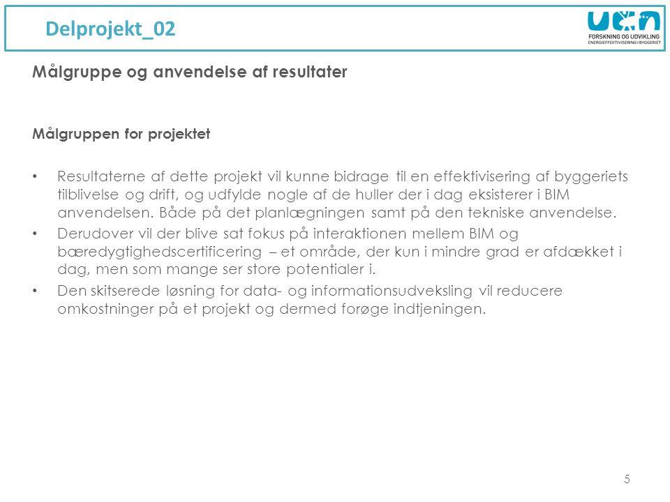 Delprojekt_02 Målgruppe og anvendelse af resultater