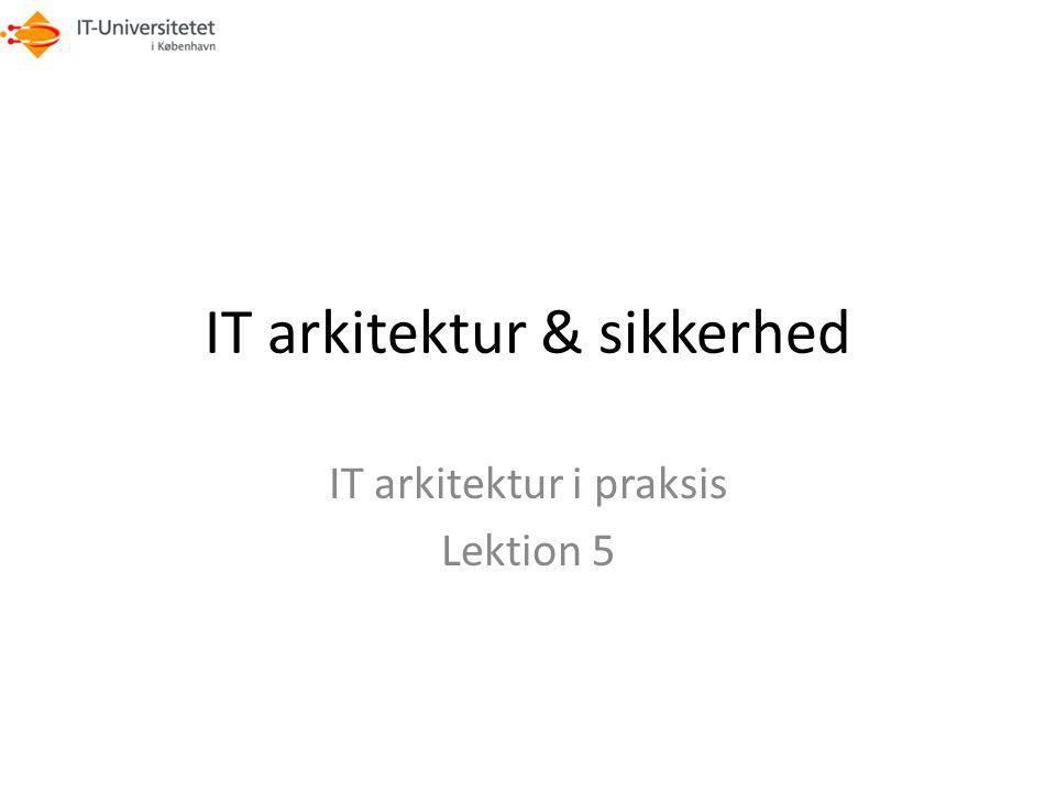 IT arkitektur & sikkerhed