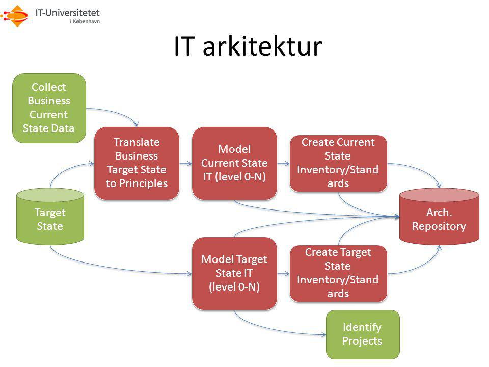 IT arkitektur Collect Business Current State Data