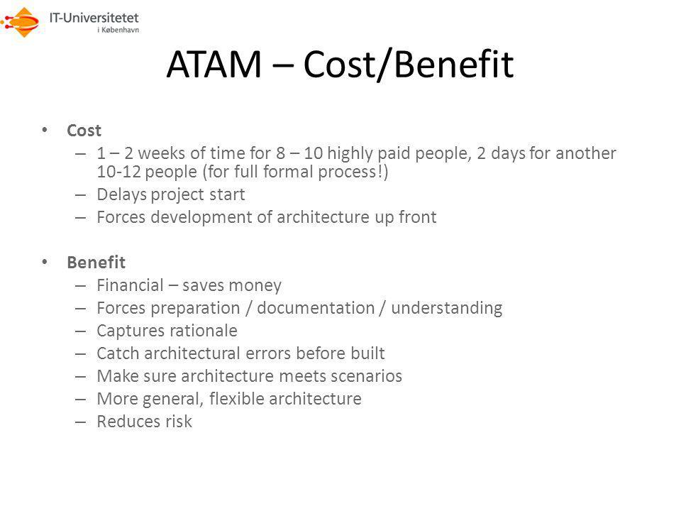 ATAM – Cost/Benefit Cost