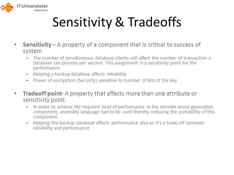 Sensitivity & Tradeoffs
