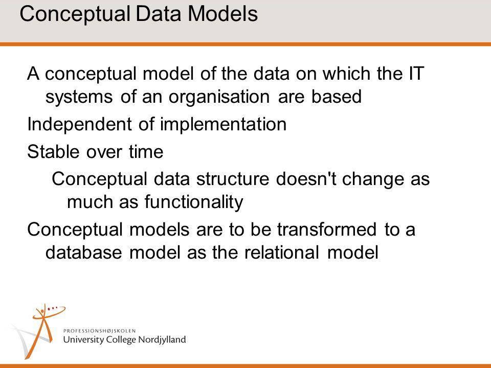 Conceptual Data Models
