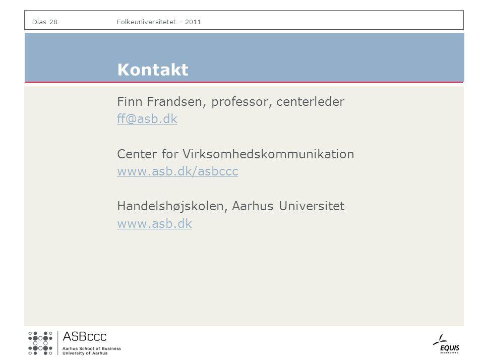 Kontakt Finn Frandsen, professor, centerleder ff@asb.dk