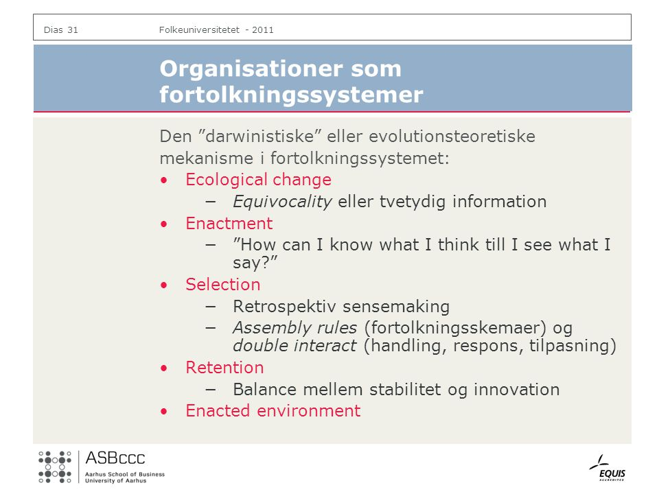 Organisationer som fortolkningssystemer