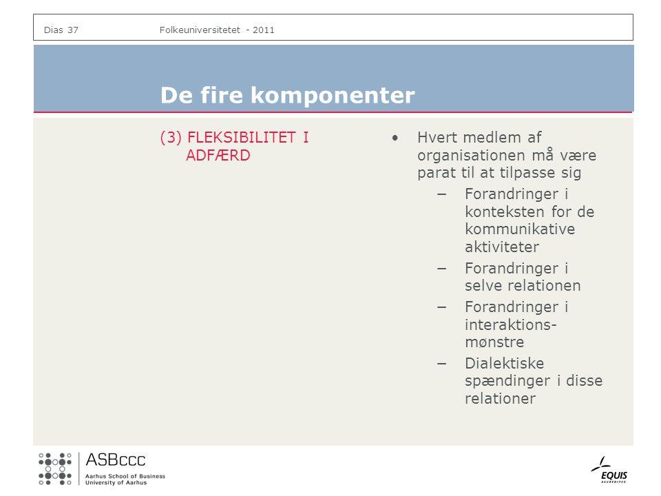 De fire komponenter (3) FLEKSIBILITET I ADFÆRD