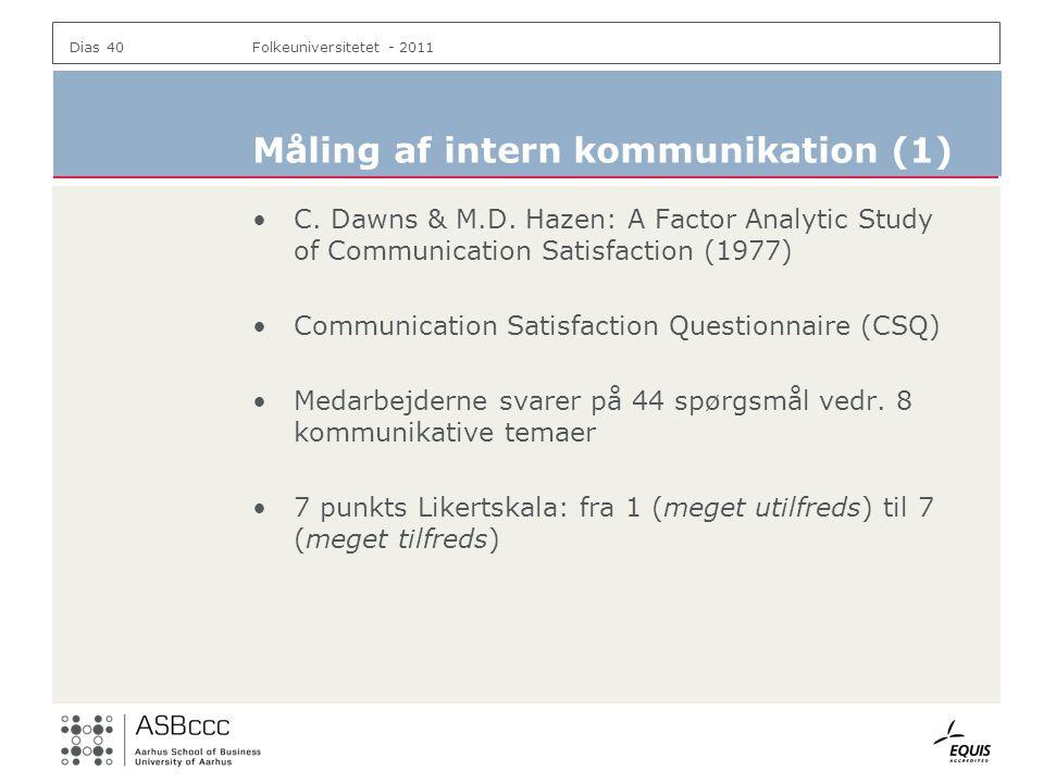 Måling af intern kommunikation (1)