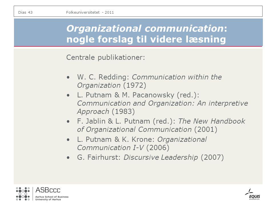 Organizational communication: nogle forslag til videre læsning