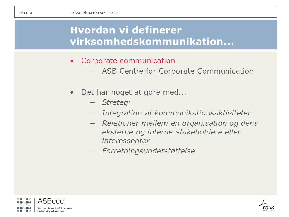 Hvordan vi definerer virksomhedskommunikation...