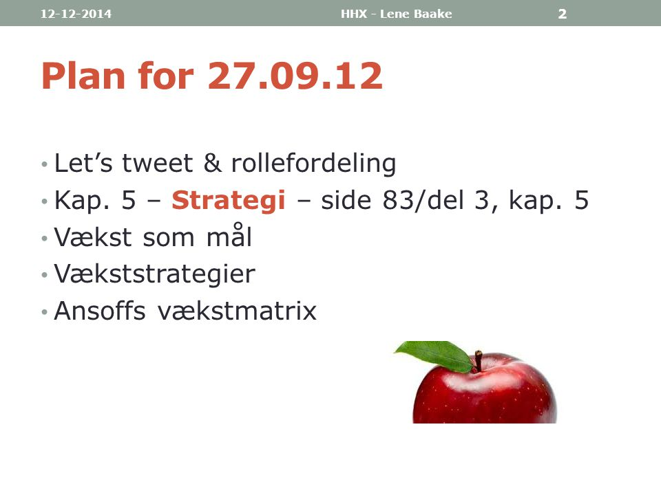 Plan for 27.09.12 Let's tweet & rollefordeling